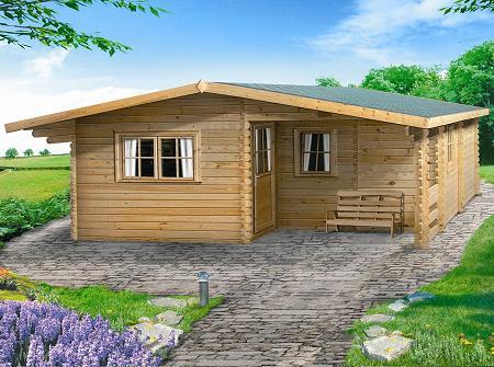garage di legno per moto