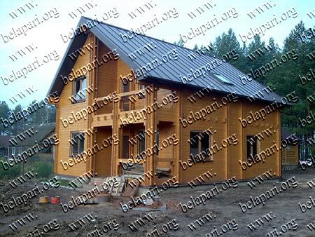 Деревянные дома из 100% массива древесины.