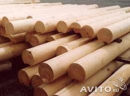 Round whitewood logs