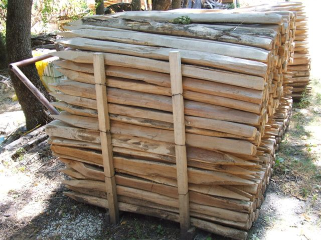 Acacia poles for vines yards