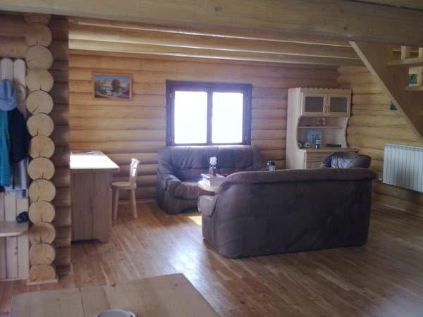 Casas, cabañas de troncos redondos