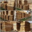 Beech timber from warehouse