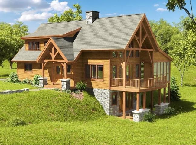 Le case di legno sono di nuovo alla ricerca in Europa dell`Est