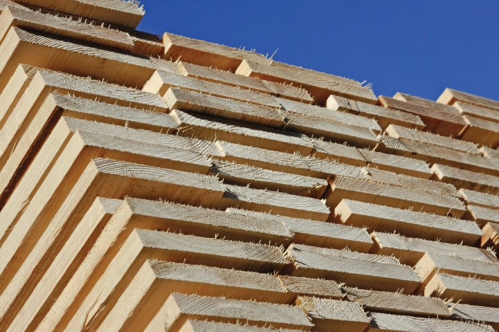 Latvian wood exports increased with 46%