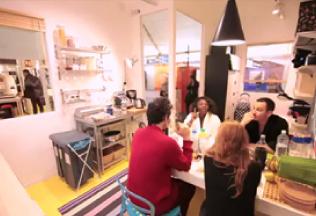 IKEA létrehozott egy lakás egy metró állómásban